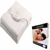 NEW White Single, Double & King Home Washable Heated Bed Electric Blanket
