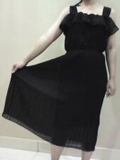 Black chiffon pleated dress