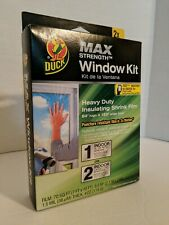 Duck Max Indoor Heavy Duty Xl Insulating Shrink Film for Patio or 2 Windows 7x10