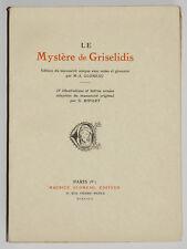 LE MYSTERE DE GRISELIDIS M.A GLOMEAU Illustré G. RIPART 1923 Numéroté