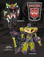 Transformers TFCC Botcon 2011 Souvenir Set Sideswipe and Toxitron