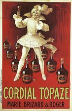 WHITE JESTER CORDIAL TOPAZ Vintage Poster CANVAS ART PRINT 24x36 in.