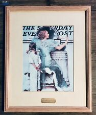 """1994 Norman Rockwell """"Going Out"""" Family Room, Centennial Edition Framed & Matted"""