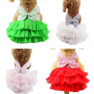 Pet Dog Girls Stripe Vest Dress Sling Spring Skirt for Puppies Dog Cute Clothing