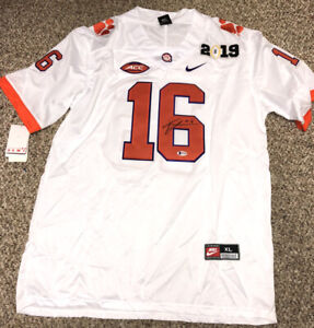 TREVOR LAWRENCE SIGNED CLEMSON TIGERS JERSEY BAS BECKETT