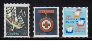 1984 Canada SC# 1012-1014 - Tall Ships,Red Cross,New Brunswick Lot# 151 M-NH