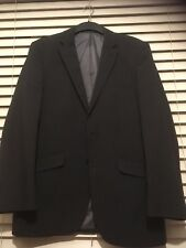 Men's Charcoal Grey Pin Striped George Suit Jacket Size 38R