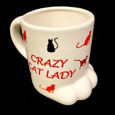 Crazy Cat Lady Cat's Paw Mug Cup New