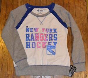 New York Rangers Hockey Sweatshirt Genuine NHL Merchandise by Majestic MSRP $55