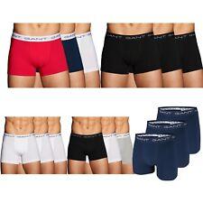 3 er Pack Herren Boxershorts von GANT, Boxer Unterhosen bequem langes Bein