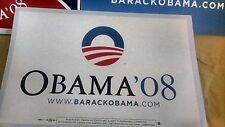 2008 President Barack Obama Official Primary Campaign Placard Rally Sign WHITE