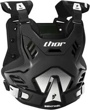 THOR MX Motocross Kids SENTINEL GP Chest Protector/Roost Guard (Blk/White) SM-MD