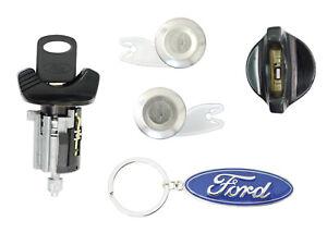 Ford 1995 Bronco Black Ignition, 2 Chrome Door Lock Cylinders w/ 2 Ford Keys