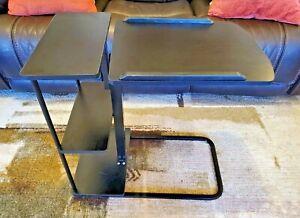 Natwind Mobile Laptop Desk Black Folding Adjustable For Bed Or Sofa With Wheels