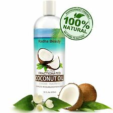 Fractionated Radha Coconut Oil 100% Pure, Carrier Oil, Message, Essential Oil.