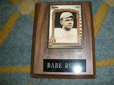 BABE RUTH CARD WALL HANG/ PLAQUE GUYANA  T