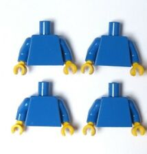 Lego 4 Torso Body For Minifigure Figure  Plain Blue Yellow Hands Hand