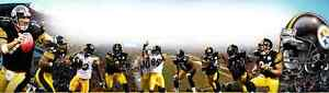 """SPORTS"" "" PITTSBURGH STEELERS"", ART/POSTER /BANNER/PICTURE  30X8.5"""