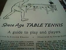 ephemera 1963 article space age table tennis kenneth wheeler 2 pages