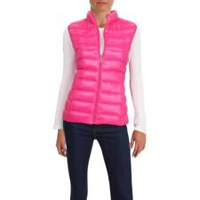 Aqua Womens Pink Fall Down Lightweight Packable Vest Outerwear M BHFO 2313
