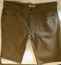 Men's Next Brown Denim Shorts Slim Fit Cotton W38 Summer Casual