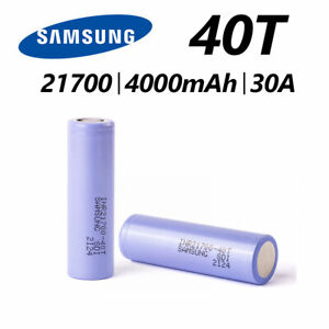 2x Samsung INR 21700 40T Rechargeable Battery 4000mAh 30A High Drain Case Holder
