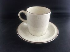 Vintage Poole Pottery Parkstone Pattern Breakfast Coffee Cup & Saucer VGC