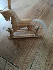 Small Wooden Carved Rocking Horse