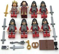 LEGO 8 NEW CASTLE KINGDOMS KNIGHTS MINIFIGURES FIGURES FLESH TONE ARMOR HELMETS