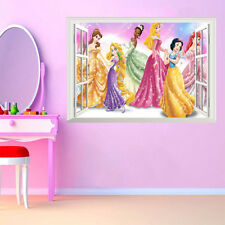 Removable Princess 3D Window Wall Sticker PVC Mural Art Decals Baby Room Decor