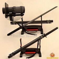 Samurai Ninja Sword Japanese Folded Steel Black Blade Ninjato Very Sharp