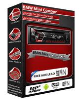 BMW Mini Cooper Voiture Stéréo, Pioneer CD Lecteur MP3 Radio Avec USB Avant AUX IN