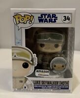 Funko Pop LUKE SKYWALKER (HOTH) with Pin Amazon Exclusive NEW IN HAND Fast