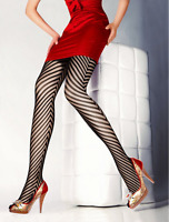 Black Fishnet Lace Net Tights Pantyhose Floral Pattern Women Ones Size New