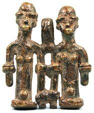 Art Africain - Ancien Pendentif en Bronze Koulango - Pièce de Devin - 4,8 Cms