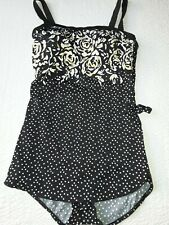 BLACK/GOLD/WHITE BATHING SUIT - BY MAXINE OF HOLLYWOOD  NWOT