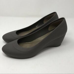Crocs | Grey Lina croslite Comfort Wedge Size 6