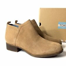 TOMS Deia Women's Brown Suede Zip Booties Shoes Size 7.5 / 8 / 8.5