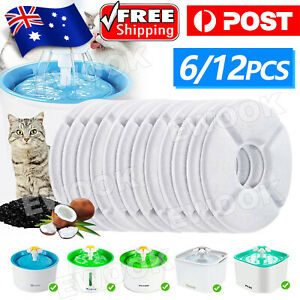 6/12Pcs Carbon Filters Water Fountain Replacement For Pet Dog Cat Water Drinking