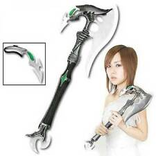 Fantasy Master Stainless Steel Alien Fantasy Axe with Dagger and Wall Plaque NEW