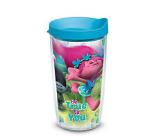 "Tervis 16 oz Tumbler Dreamworks Trolls ""Be True to You"" Turquoise Travel Lid"