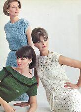 Vintage Crochet PATTERN to make 5 Dresses Variety Stitches Necklines 5CrochetDre
