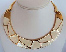 Women's PARK LANE Gold Tone Ivory Enamel Choker Necklace NWT