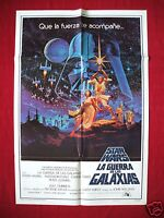 STAR WARS * 1977 ORIGINAL MOVIE POSTER 1SH U.S. / SPANISH STYLE A AUTHENTIC NM-M