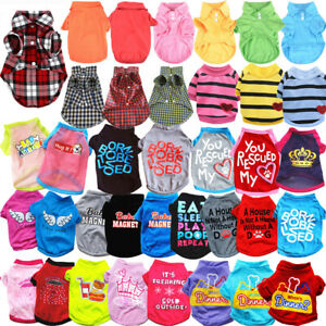 Cute Pet Cat Small Dog T-Shirts Clothes for Puppy Chihuahua Summer Vest Clothing
