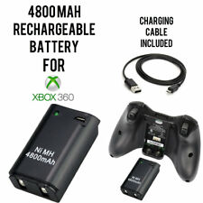 4800mAh Rechargeable Battery Pack with Charge Cable Fox Xbox 360 Controller Pad