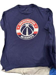 Men's Fanatics Size Small John Wall / Washington Wizards Long Sleeve Navy Shirt