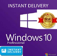 Microsoft Windows 10 Pro Professional 32*)/64bit Genuine License Key Instant
