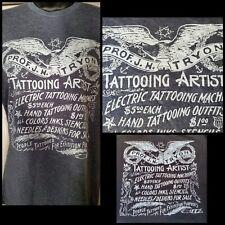 jack tryon antique vintage 1920s tattoo flash biz card grey soft t shirt medium