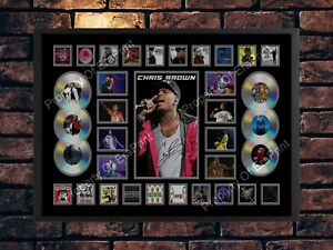 CHRIS BROWN INDIGO X FORTUNE SIGNED LIMITED EDITION  A4 PHOTO PRINT